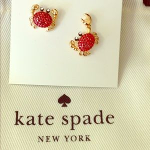 Kate Spade shore thing crab earrings